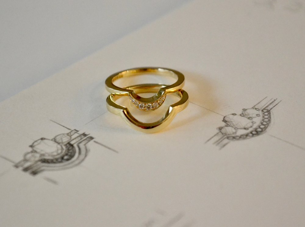 "Spanner & Wingnut bespoke ""Karla"" rings 