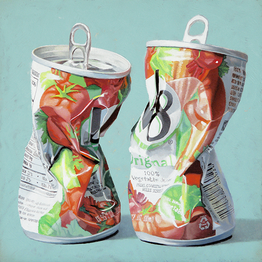 "Canned Goodness  oil on panel    10"" x 10"""