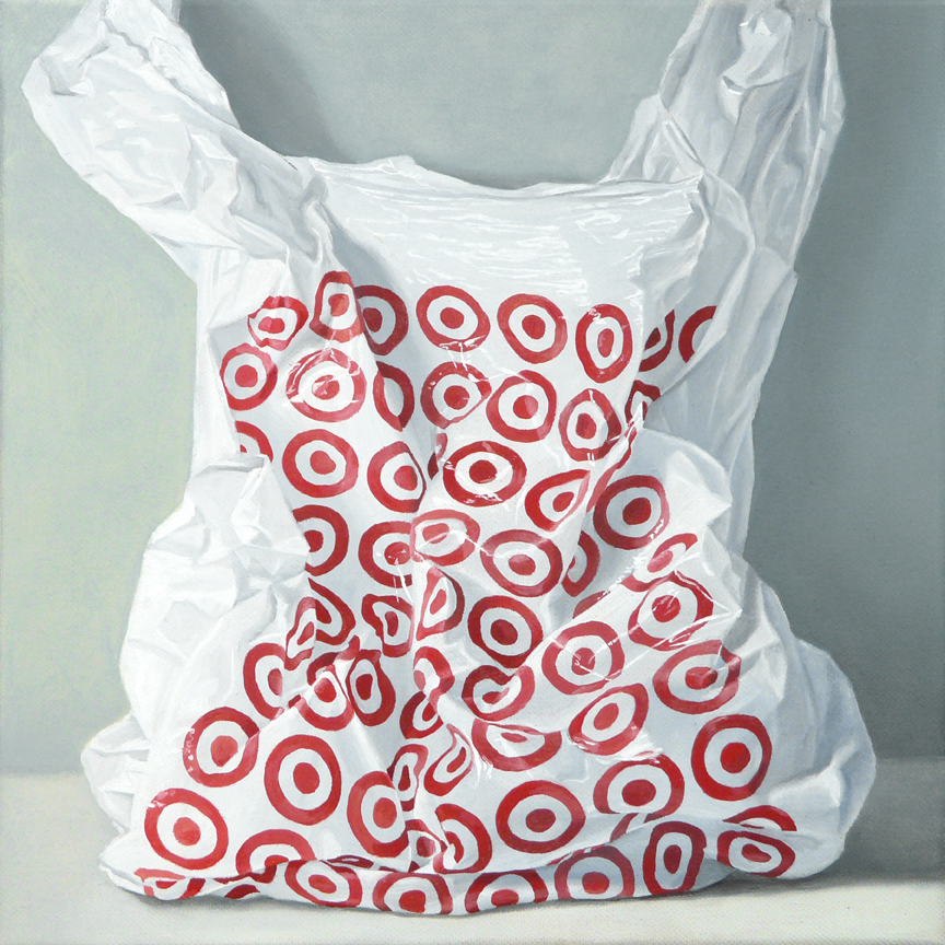"Target  oil on canvas    12"" x 12"""
