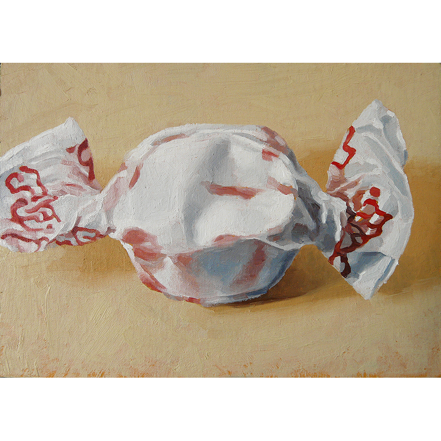 "Peppermint Taffy  oil on panel  5"" x 7"""