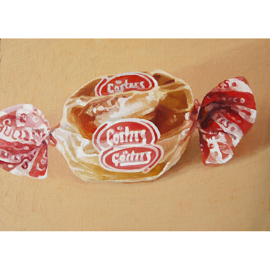"Caramel Creme  oil on panel  5"" x 7"""
