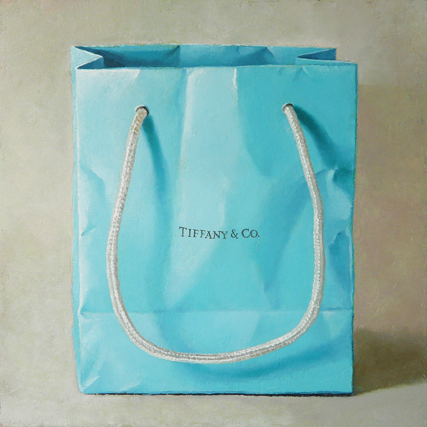 "Tiffany & Co.  oil on linen  12"" x 12"""