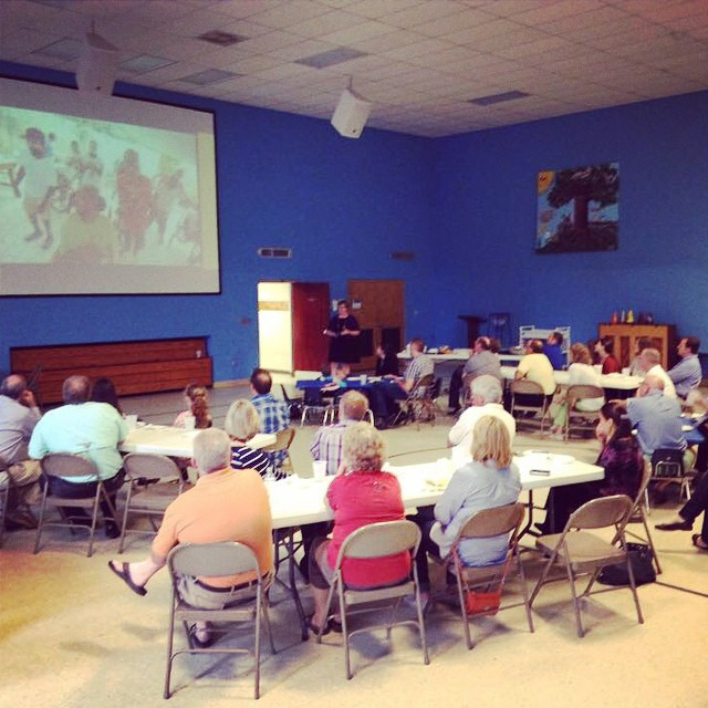 """Inviting others to experience the terrifying #joy of unbearable #responsibility,"" as Executive Director Erin Murphy puts it. Today we shared our vision that ALL may have #life with 41 partners at Pilgrim Lutheran Church in South Carolina."