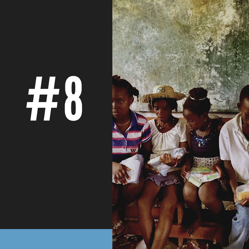 #8 - (85%) of all Haitians with a college degree do not live in Haiti, creating a devastating brain drain.HTF IS CHANGING THIS THROUGH THE HELP PROGRAM. NOT ONLY IS THE HELP INITIATIVE CREATING AN EDUCATING PROFESSIONAL CLASS FROM THE POOR, 84% OF ALL HELP GRADUATES STAY IN HAITI AFTER GRADUATION.