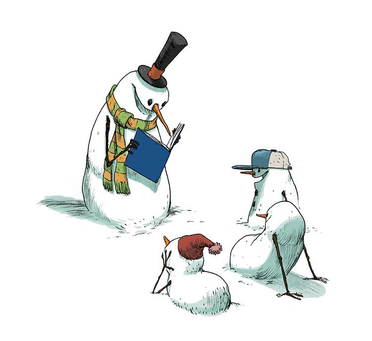 Art copyright Stephen Gilpin from 100 Snowmen