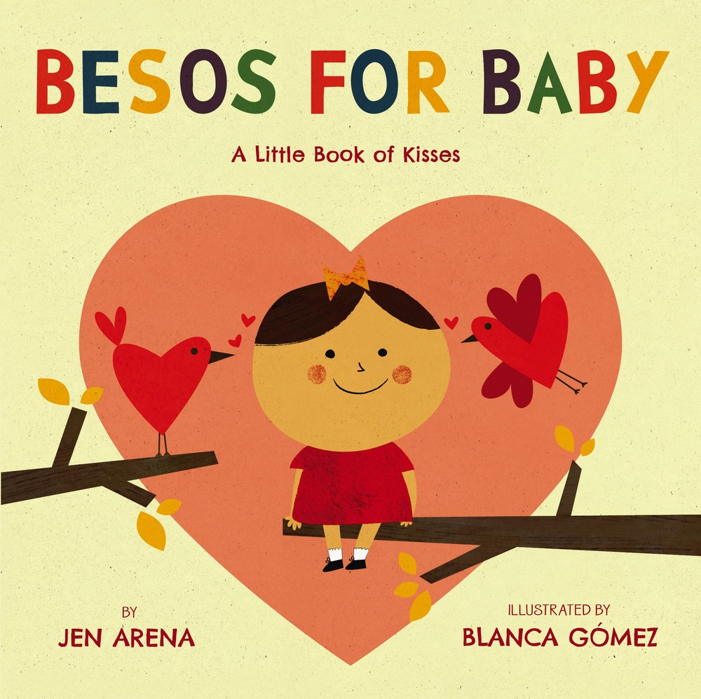 A sweet bilingual board book of kisses.