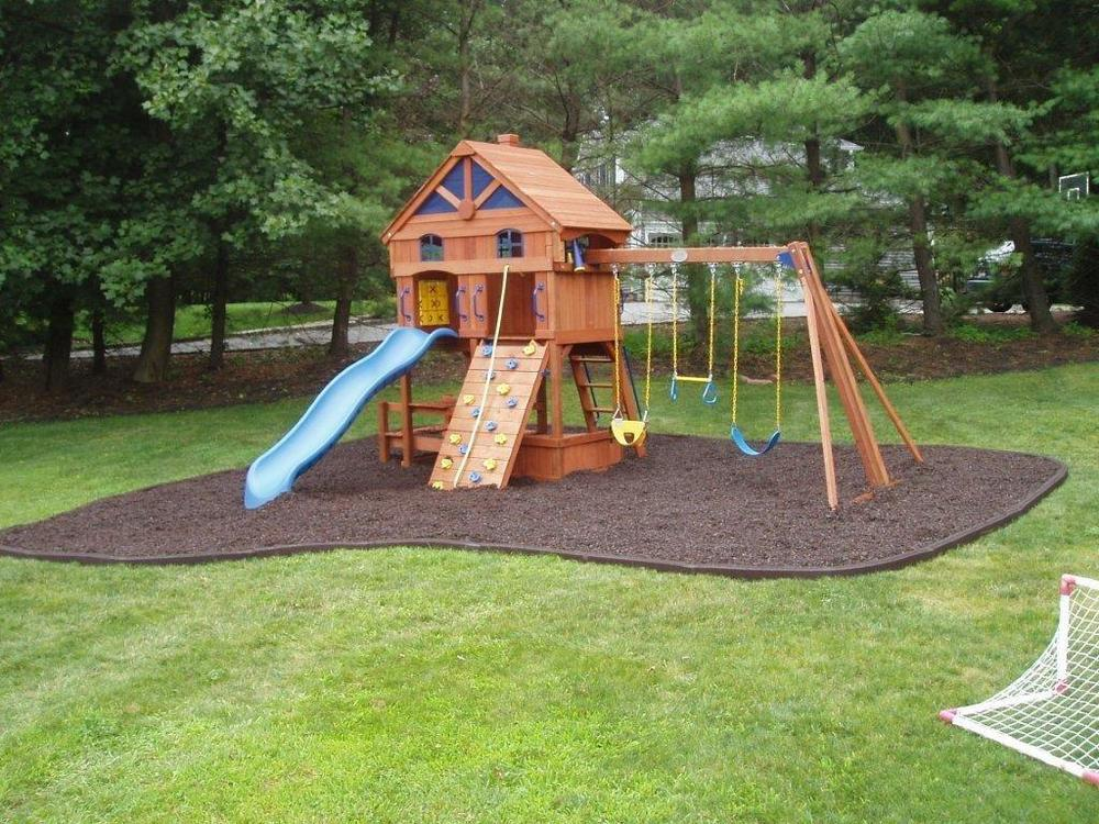 Rubble Bendable Borders Outdoor Playground Surfaces
