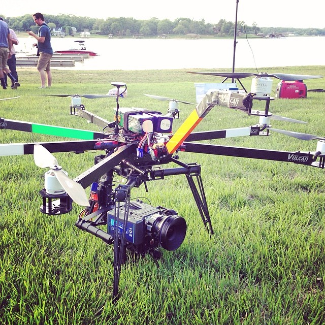 Vulcan Heavy-lift Octocopter - Supports cameras over 15lbs. including RED Dragons.