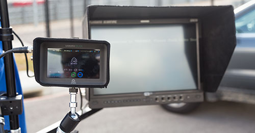 Director's Monitor and Atomos Samurai Blade for Ground Recording/Playback