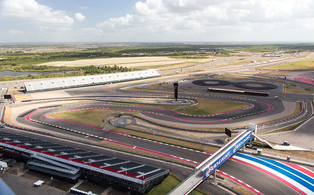 The view from the tower at Circuit of the Americas