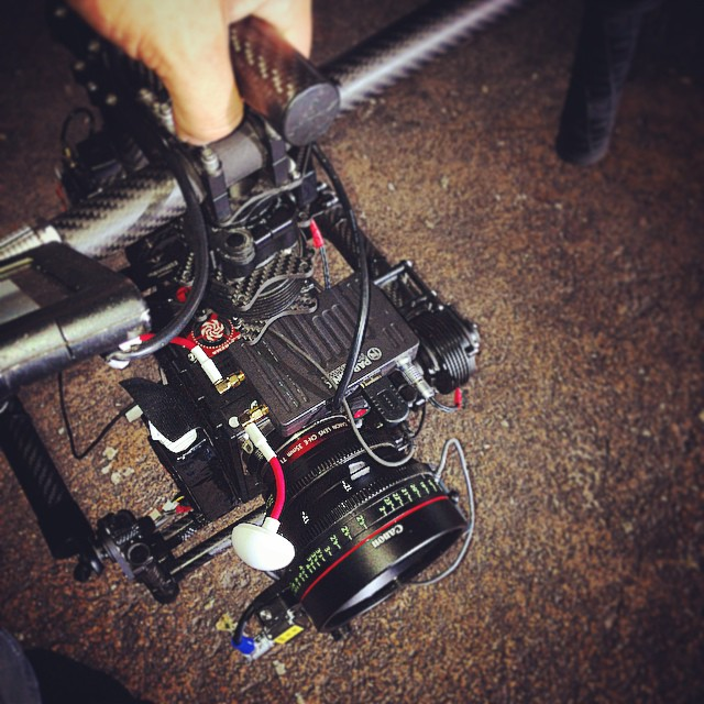 RED Dragon going hand held on a Movi M10