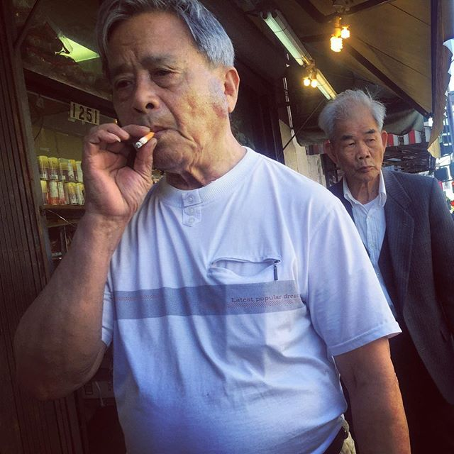 Chinatown : San Francisco 2015 #sf #sanfrancisco #cali #California #chinatown #culture #travel #elder #perspective #people #streetart #streetportrait #streetphotography #nemaetebar #america #iphone #igers ##photojournalism #humanity #human #document #diversity #Chinese #trainsmoke