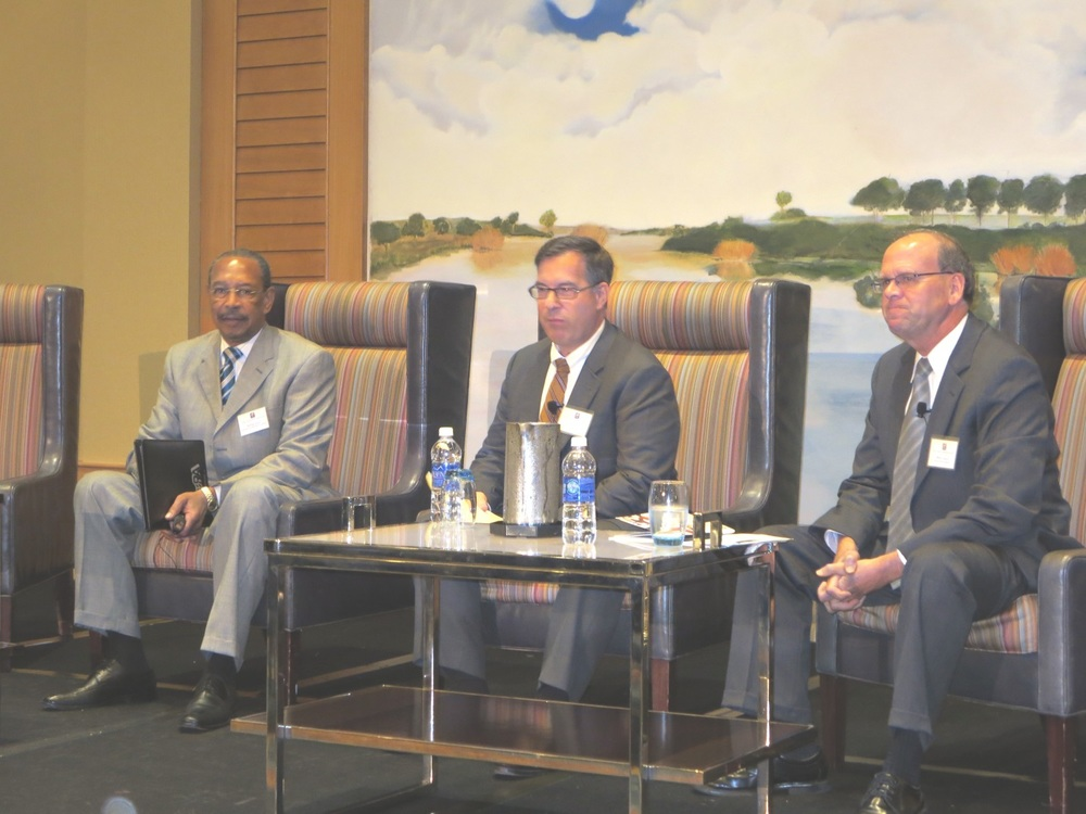 Executive Officer Panel: (L-R) Jerry Johnson, General  Manager, Washington Suburban Sanitary Commission; Mark R. Kempic,  President, Columbia Gas of Maryland; and Mike Wheatley, President and  Chief Executive Officer, Choptank Electric Cooperative.