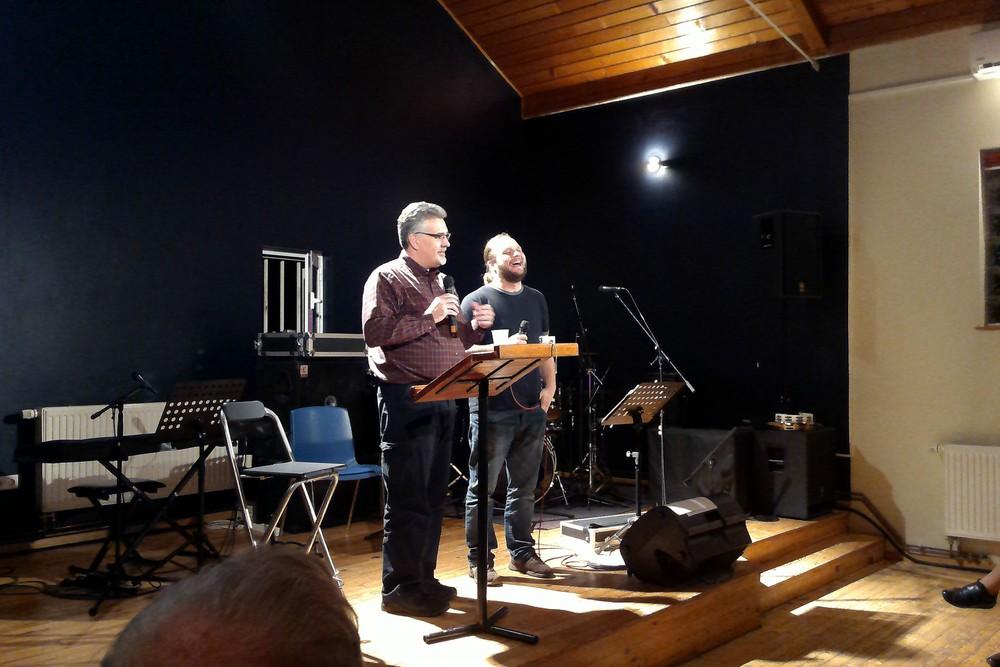 Pastor Matt Howell teaches during the Spiritual Formation Class at Malta.