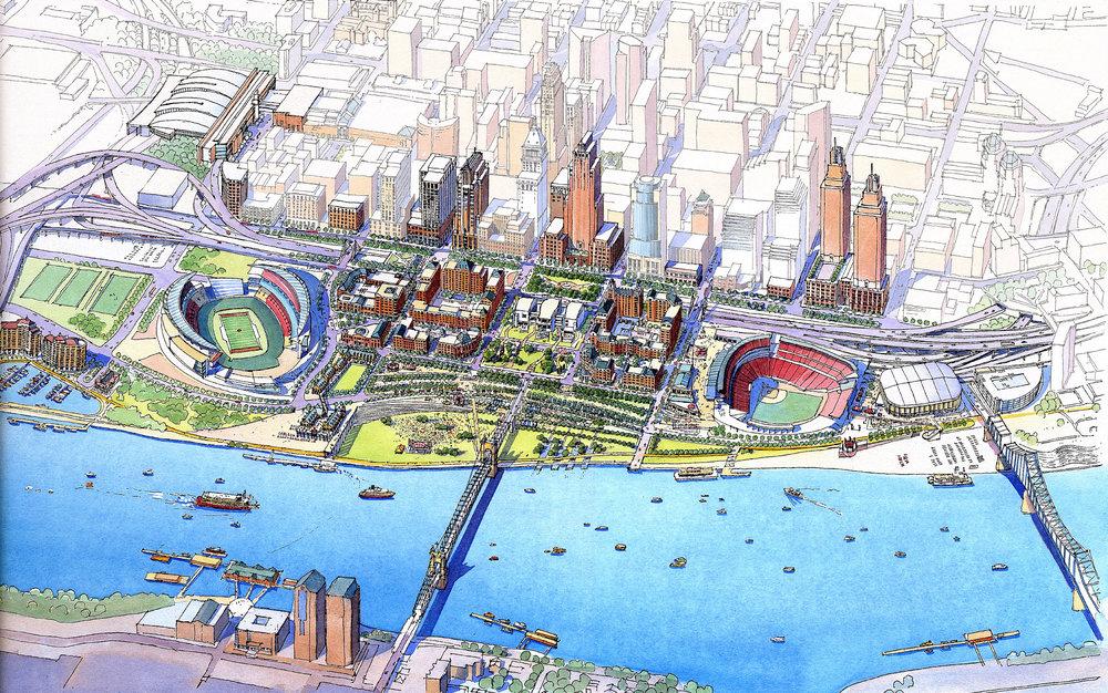 Cincinnati Riverfront - Cincinnati, Ohio