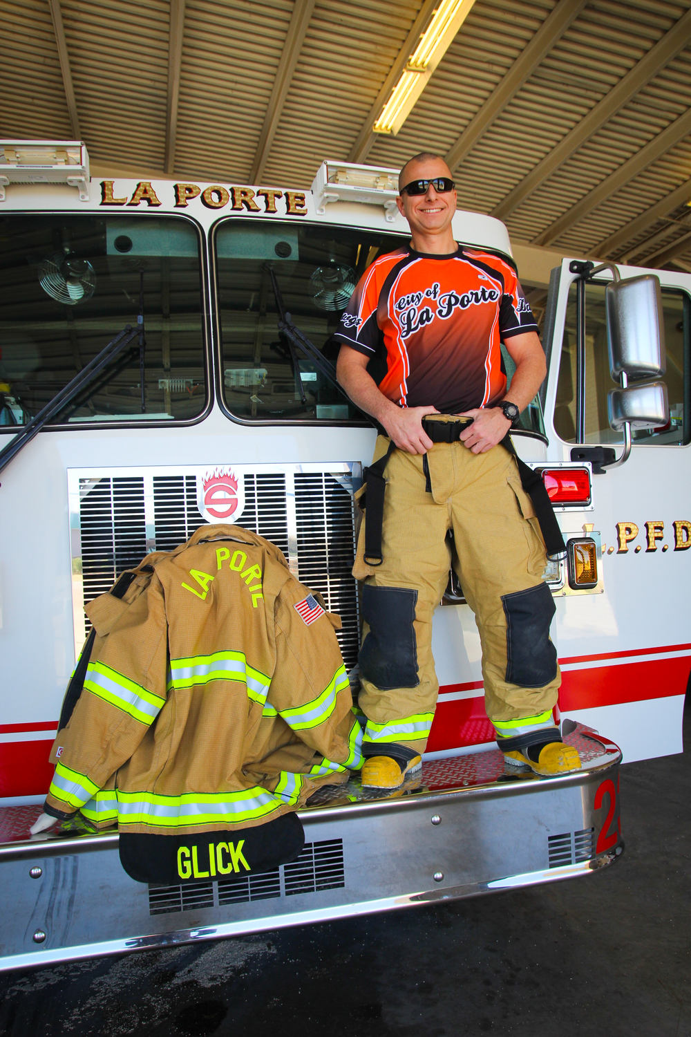 City Of La Porte Firefighter John Glick, an avid ultra runner, is committed to running the 200 miles in its entirety.
