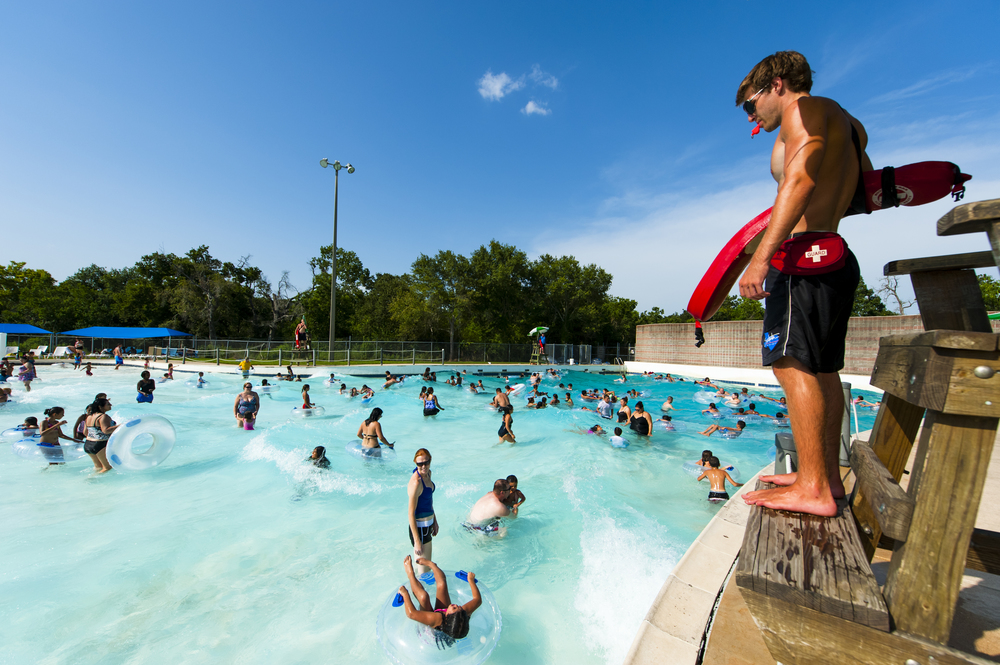 The Little Cedar Bayou Wave Pool is $5 for non-residents and a perfect fit for families! Concessions are available as well and the hours are convenient! Come catch some rays at this beautiful City owned park!