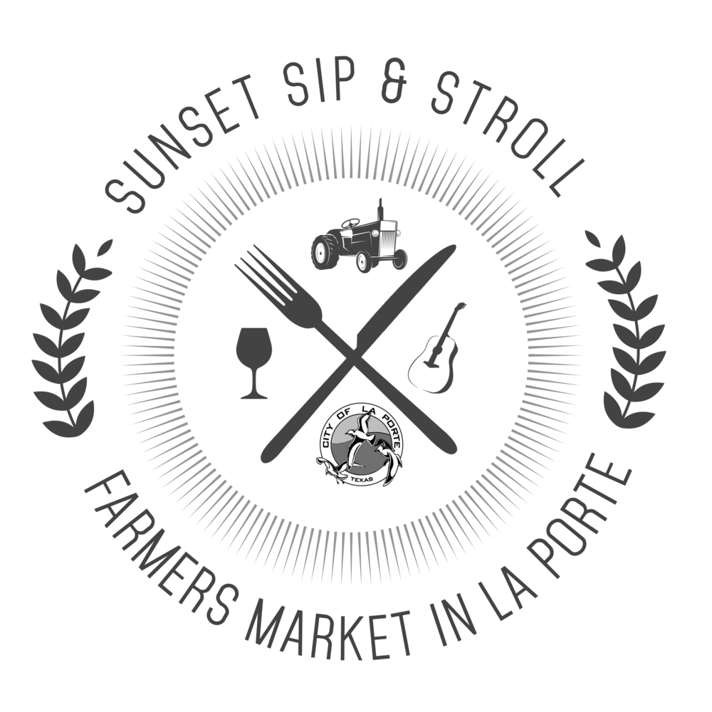 Click here to learn more about our Sunset Sip & Stroll Farmers Market - An artsy twist on a farmers market held third Sautrday's in La Porte at Five Points Plaza
