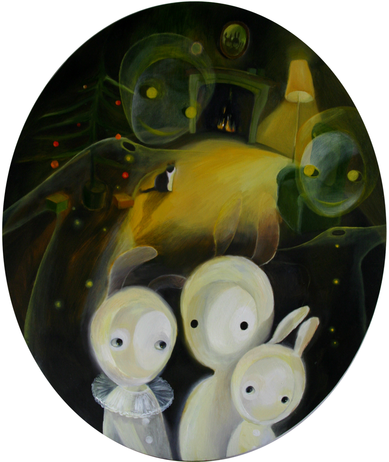 Christmas spirits   50 x 60 oil on canvas . 2010 – 2011