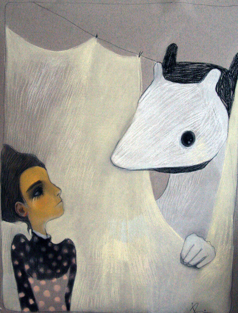 Mr...X   50 x 60 pastel on the paper . 2006