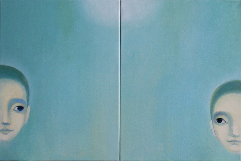 Two   40 x 60   oil on canvas .  2012