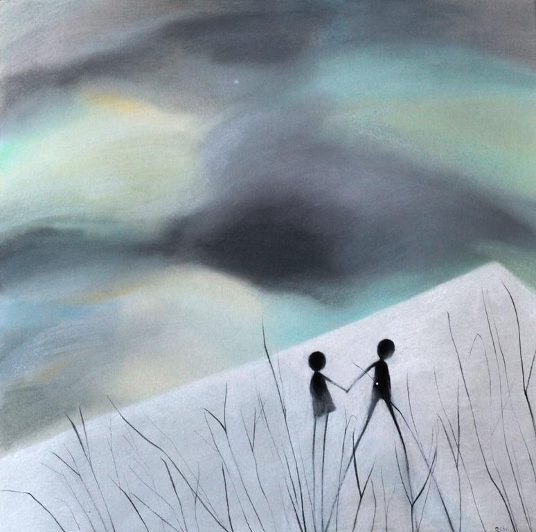 tall grass  2014     50x50       paper. pastel.