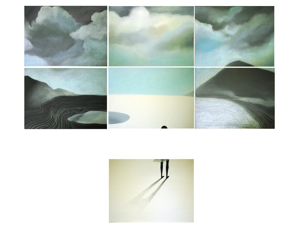 7+-1  1,20 x 90  pastel on paper   2013