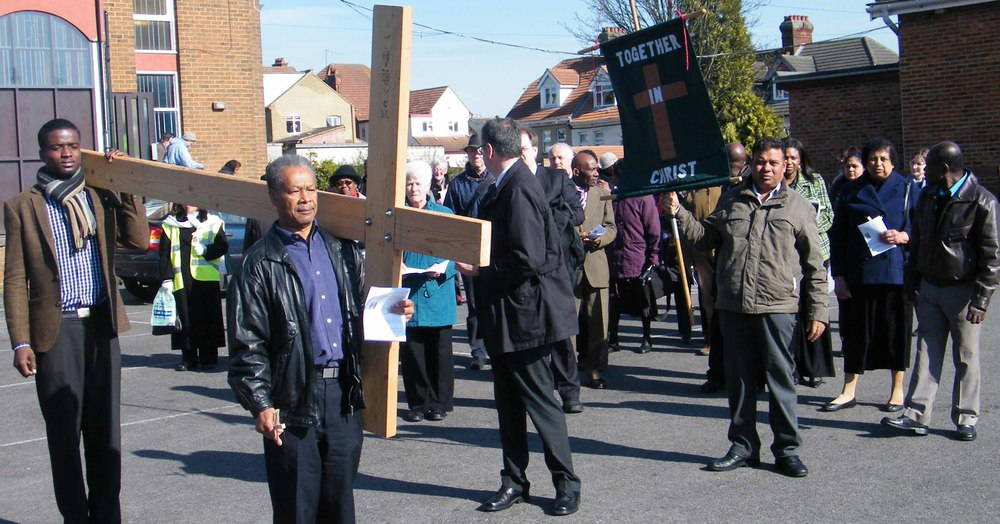 Good Friday March Leaving Holy Ghost Church on Westbourne Road.jpg