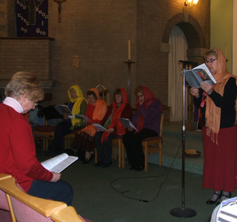 Women's World Day of Prayer 2013.  The service was prepared by women from France, on the theme of  I was a stranger and you welcomed me in