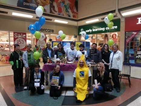 The Luton Fairtrade Steering Group and GRASSROOTS promoting Fairtrade in Luton