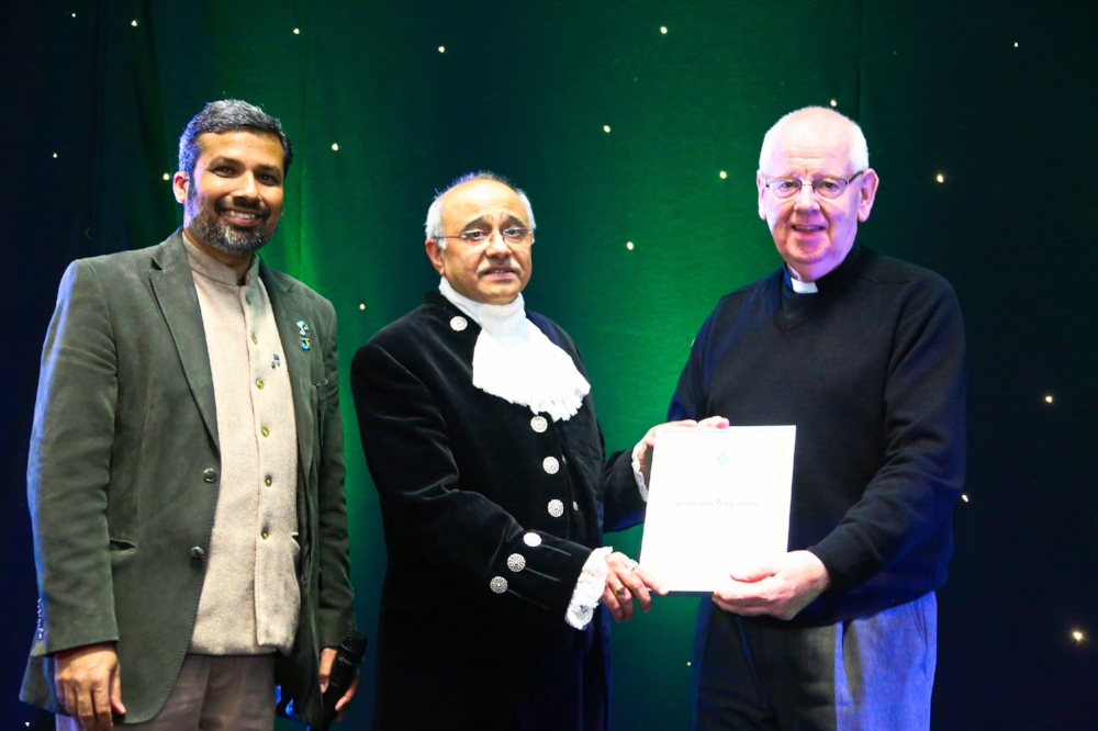 (L-R) GRASSROOTS Director, David Jonathan; High Sheriff of Bedfordshire, Vinod Tailor; GRASSROOTS Chair, David Lawson