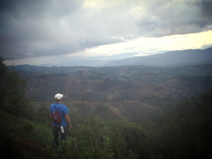 Top of a mountain in Guatemala.