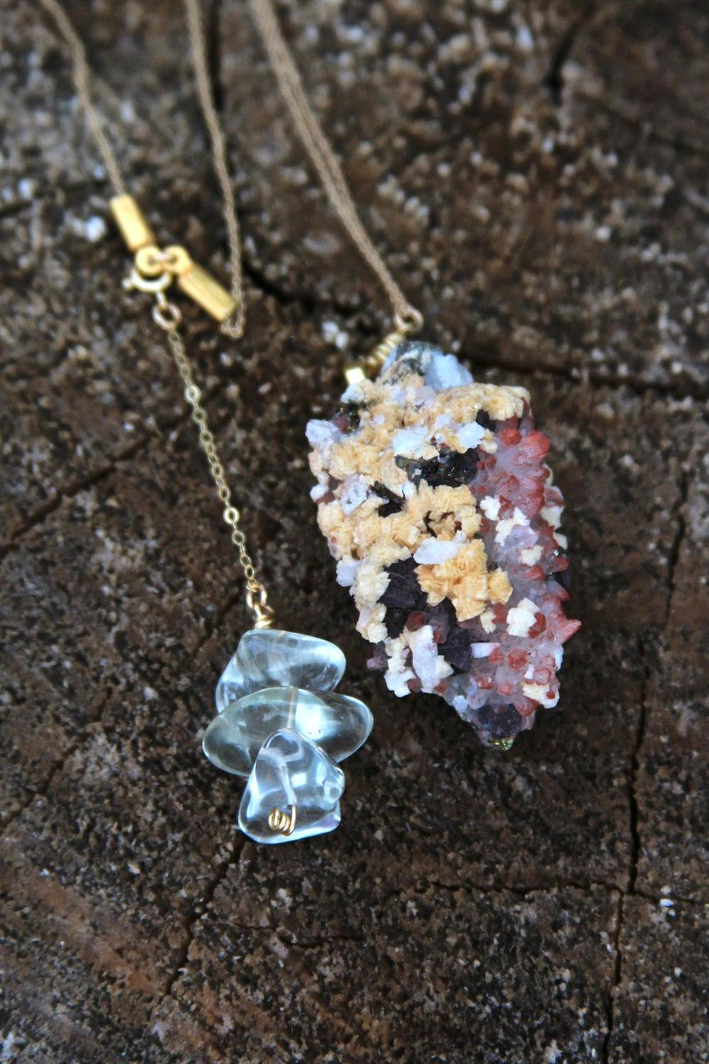 A custom piece I created for one of my biggest inspirations:  Nisha Moodley  {Red Phantom Quartz + Prasiolite)
