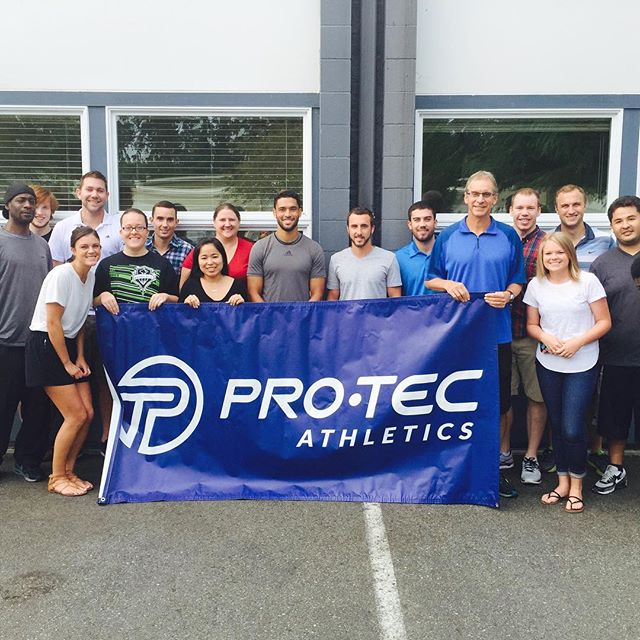 Had a great time meeting all the @protecathletics staff today. Great people, awesome products!