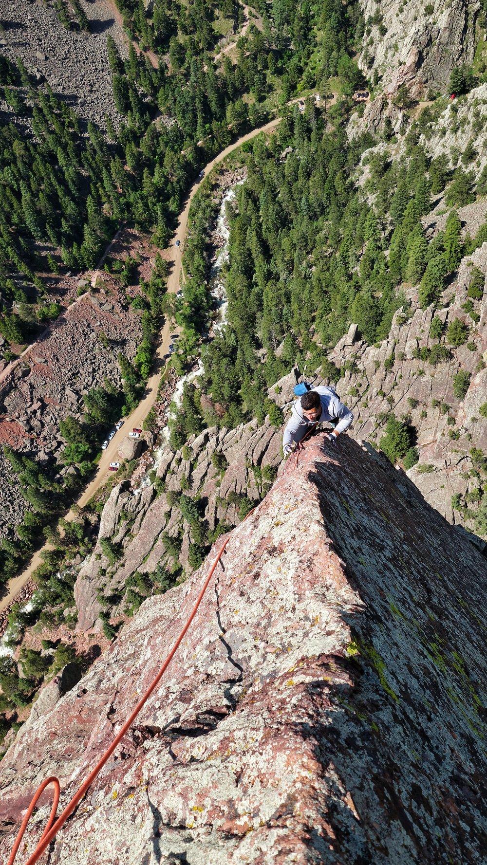 Climbing in Rocky Mountain National Park, Colorado