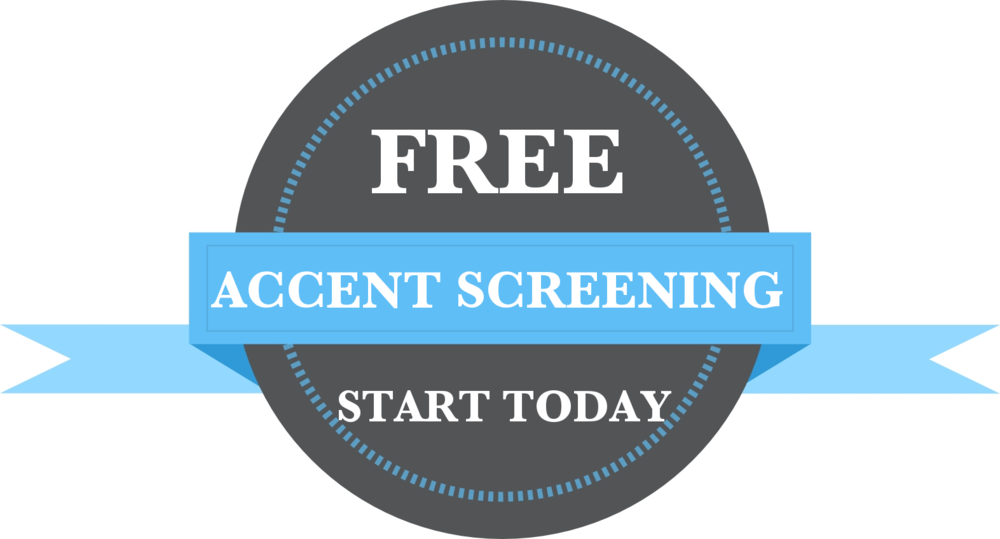 accent reduction screening