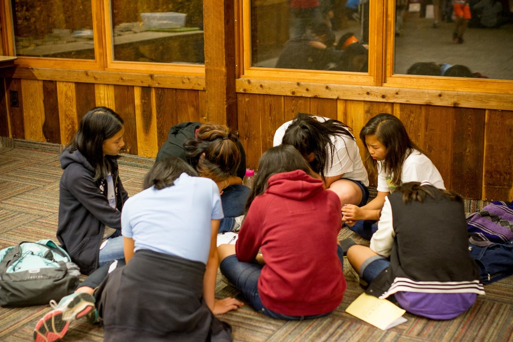 Small group times were a great opportunity to recap the messages and pray over the themes.