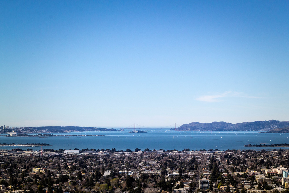 A  gorgeous view of the bay from the top of Lawrence Lab!