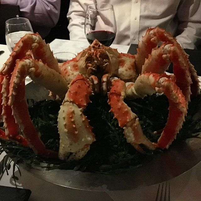 Everything really is bigger in Texas #crab #alaskankingcrab #texas #dallas #visittexas #nickandsams