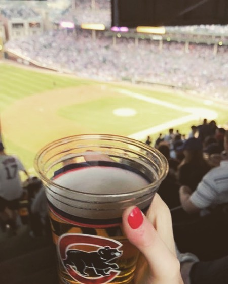 Can't think of a better way to spend a Friday afternoon #cubs #gocubsgo #wrigleyfield #beer #budlight #baseball #thisischicago #chicago #choosechicago