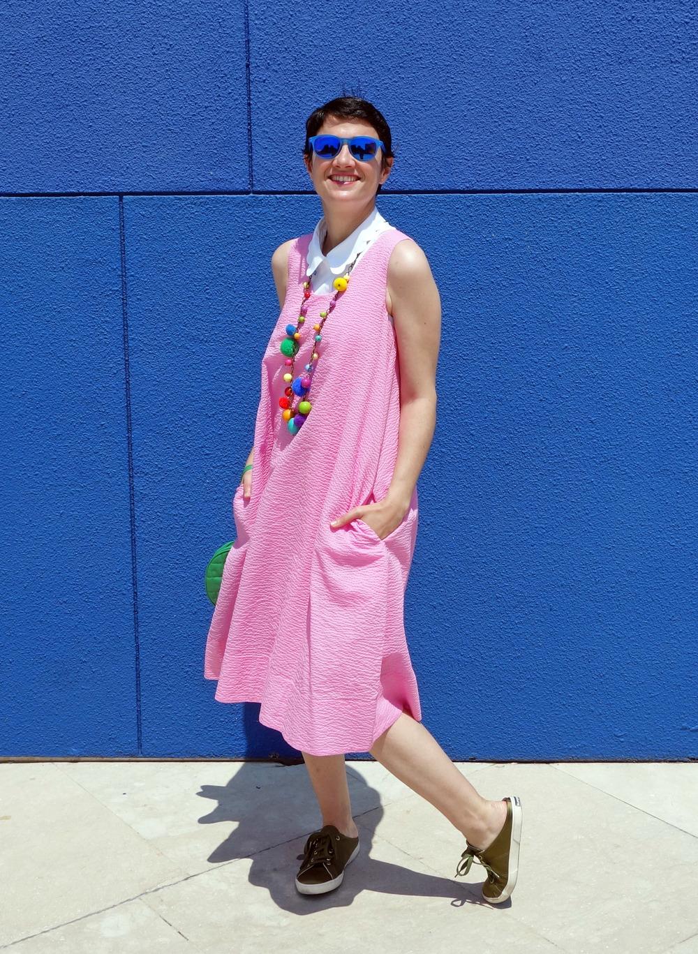 Back_To_Trendy_Pink_Dress_Blue_Sunglasses_Highfly_4.JPG