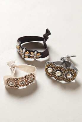 Crystalline Hair Ties from Anthropologie are really dainty for your classic girl. Great gift for someone who loves to accessorize but keeps it clean and simple. They retail for $24.00 (approximately Php1,032.00)