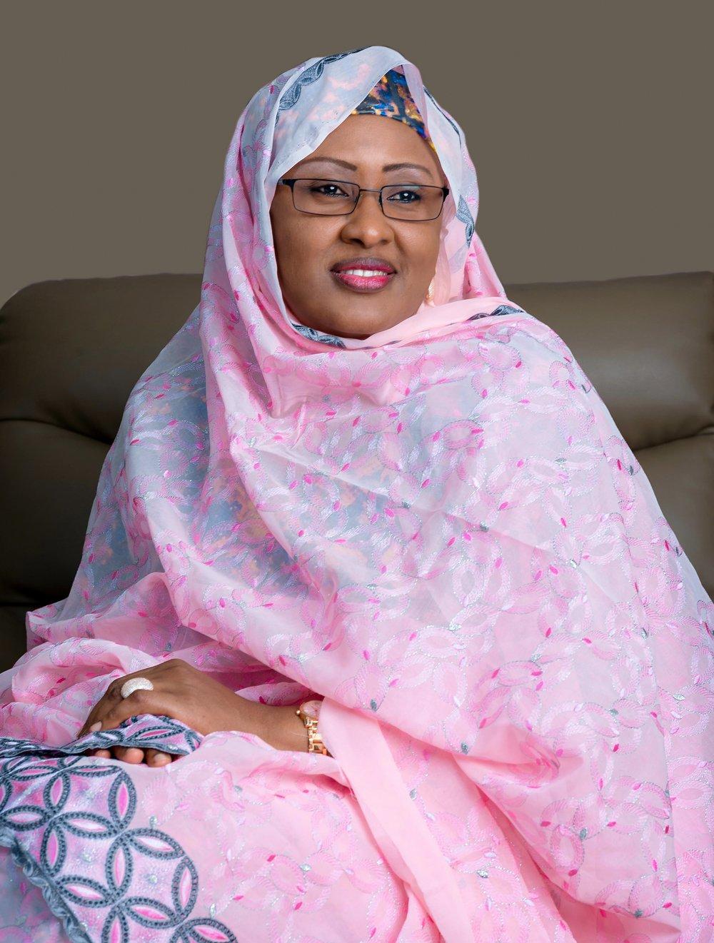 S.E. Aisha Muhammadu Buhari +  Épouse du président + Nigeria