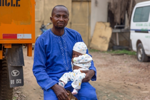 Man with Child in Kaduna, Nigeria