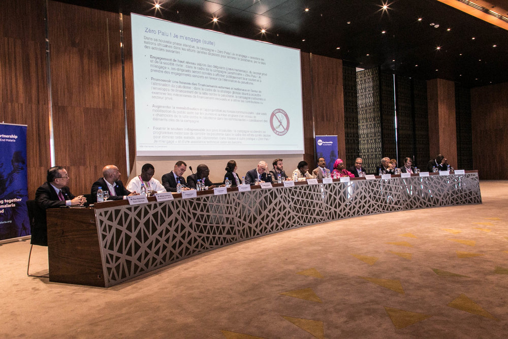 RBM Partnership to End Malaria board members convene a dialogue before the opening ceremony of the 7th Multilateral Initiative on Malaria (MIM) on 15 April 2018.