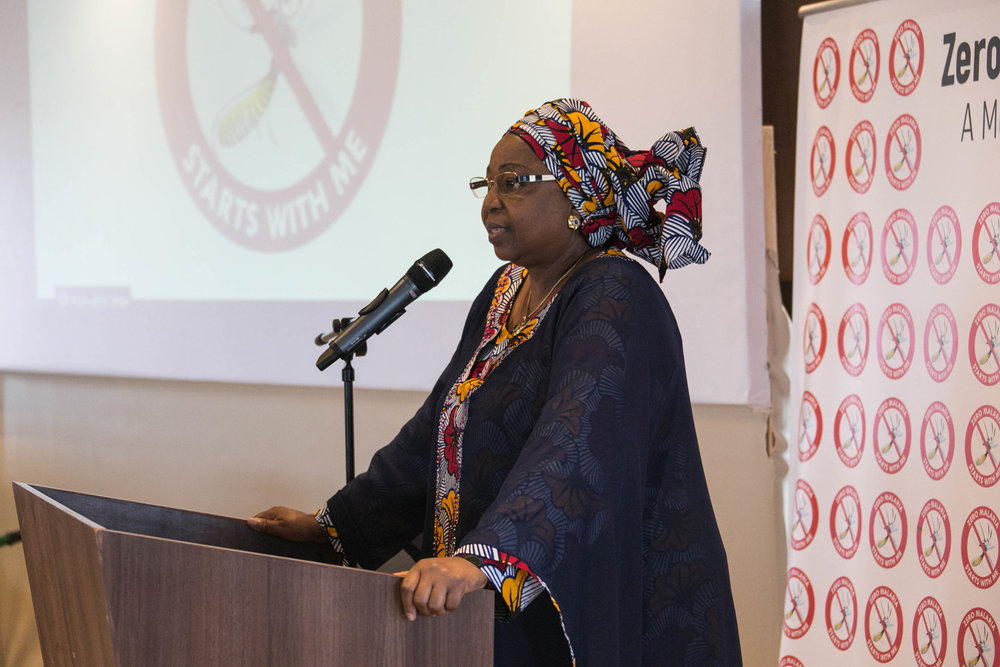 "Pr. Awa Marie Coll-Seck Minister of State of Senegal, speaking about the ""Zero Malaria Starts with Me"" luncheon."
