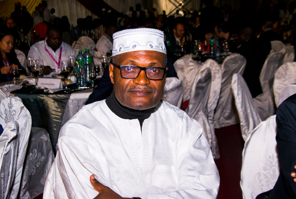 Prof. Wilfred Mbacham, Associate Professor at the Biotechnology Center (BTC) of the University of Yaounde I in Cameroon at the gala dinner. Prof. Mbacham was one of many malaria champions that were honored with a certificate of appreciation at the gala.
