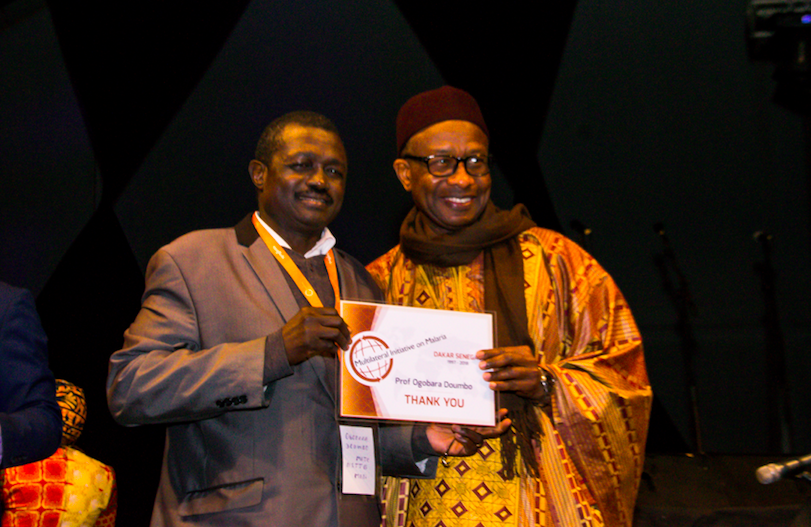 Prof. Ogobara Doumbo, Director of the Malaria Research and Training Center in Bamako, Mali, was one of many malaria champions honored during the gala.