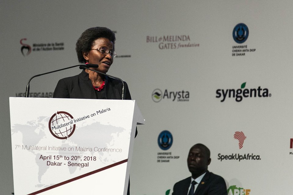 Executive Secretary of the African Leaders Malaria Alliance (ALMA), Joy Phumaphi, during the opening ceremony of the 7th Multilateral Initiative on Malaria (MIM) Pan African Malaria Conference that took place in Diamniadio, Senegal from 15-20 April 2018.