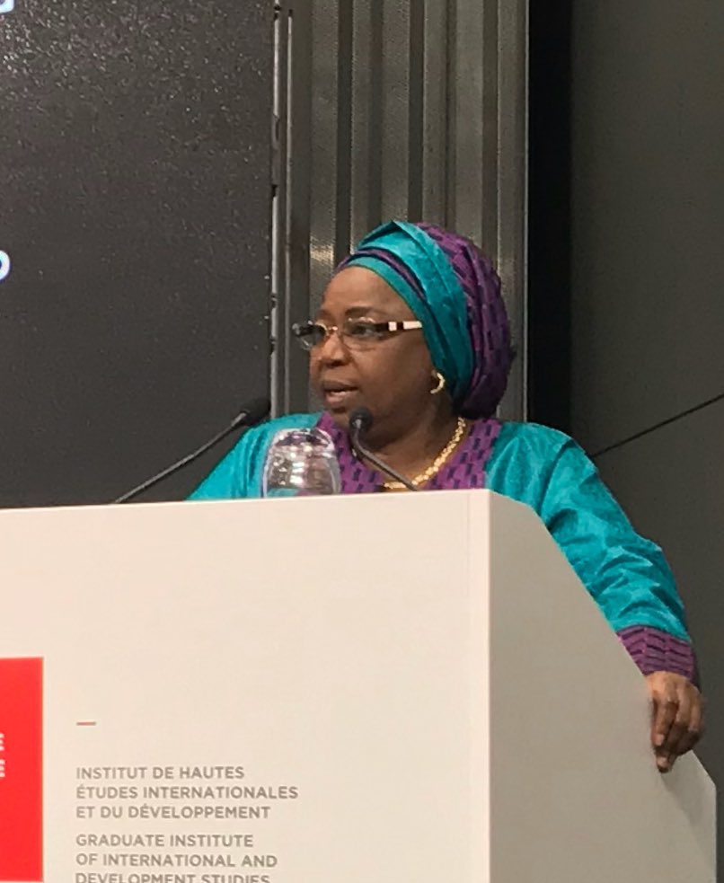 In Geneva, Senegalese Minister of State, Prof. Awa Coll-Seck giving the keynote address at the World Malaria Day event organized by the RBM Partnership, the Swiss Malaria Group and the Global Health Centre . (Photo: Thomas Gass)